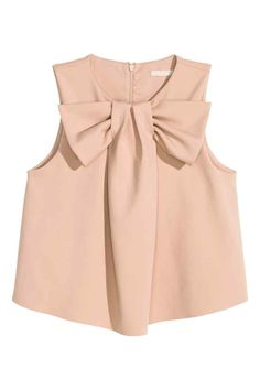 Blusa curta com laço | H&M