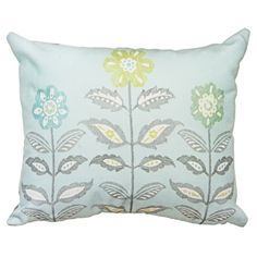 Montague Floral Print Filled Cushion, Teal