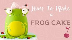Cute Frog Cake Tutorial | How To | Cherry School - YouTube