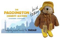 The #Paddington charity auction -please give this bear a new home and help us raise funds for FARA