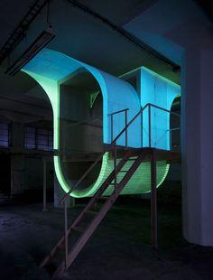 glow-in-the-dark urban dwelling by jiri prihoda - designboom   architecture