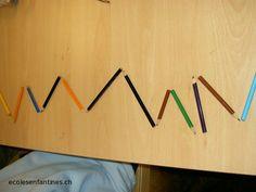 ecoles enfantines - Graphisme - les lignes brisées tout simplement