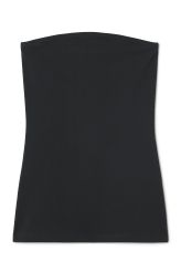 <p>The Nancy Tube Top is a basic easy to dress up and down. Made from an elastic organic cotton blend, it has a fitted cut, a curved neckline and an elasticated band at the top. <br /><br />-The model is 178 cm tall and wears size small, that measures70 cm in chest circumference and 67 cm in length.</p>