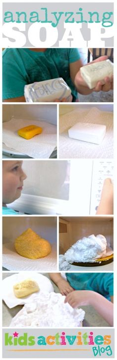 Compare and contrast microwave soap experiment for kids looks like lots of fun