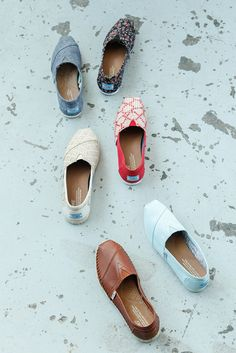 Hop on the giving train. With every pair of TOMS Shoes you purchase, TOMS will give a new pair of shoes to a child in need. One for One.