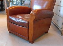 French 20th Century Leather Armchair