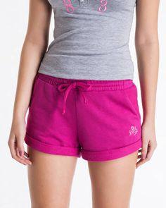 BadCat - Shorts de Moletom Barra Dobrada
