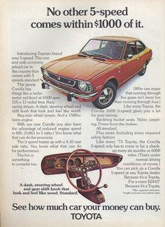 Toyota Corolla #vintageads #toyota #toyotacorolla