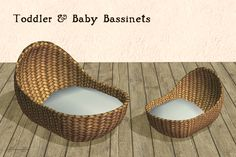 I'm not really sure they had baskets for babies to sleep in during the stone age, but it's better than leaving them lying on the floor or in that silly turtle-shell bassinet.