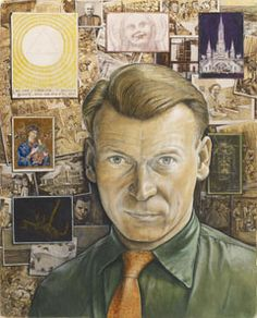 William Kurelek – Self-Portrait watercolour, gouache and ink on paper, The Thomson Collection, Art Gallery of Ontario, Toronto Winnipeg Art Gallery, Art Gallery Of Ontario, William Kurelek, Selfies, Sarah Lombardi, Self Portrait Art, Ukrainian Art, Art Brut, Canadian Artists