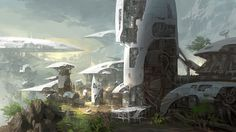 ArtStation - sf concept station, Lee b