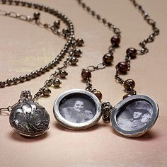Modern heirlooms: necklace, locket, metal clay - Jewelry Store