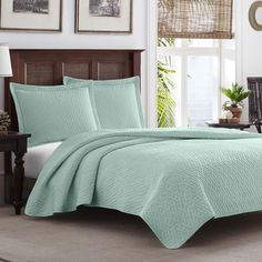 Found it at Joss & Main - Tommy Bahama Solid Chevron Reversible Coverlet Set