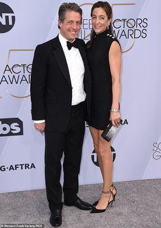 Hugh Grant & Anna Elisabet Eberstein from 2019 SAG Awards: Red Carpet Couples Hugh Grant Wife, Big Show, Sag Awards, Beautiful Wife, Red Carpet Fashion, Looking Stunning, Put On, Celebrity Style, Anna