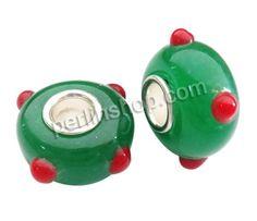 Lampwork Perlen European Stil, Rondell, handgemacht