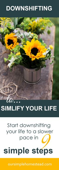 Downshifting to a Simpler Life in 9 Simple Steps - Maybe you're looking for a way to reconnect with your family or find a way to relax and unwind from the stress of everyday life. If we're honest, most of us would say that life is complicated, parenting is exhausting, and the thoughts of downshifting to simple living is appealing.