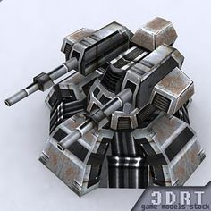 3D Sci Fi Turret - 3D Model