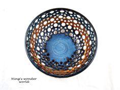 Pottery berry bowl ceramic fruit bowl earthy by Ningswonderworld, $55.00