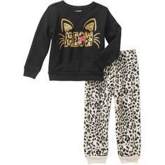 Garanimals Baby Toddler Girls' Basic Fleece Top and Pants 2-Piece Set