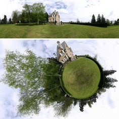 Panoramic Photos ~ Two takes on the same space.