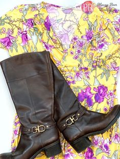 Get ready for spring in this yellow Paisley Raye dahlia dress!