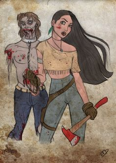 Top 13 des héros Disney version The Walking Dead, ils se battirent et tuèrent beaucoup de zombies