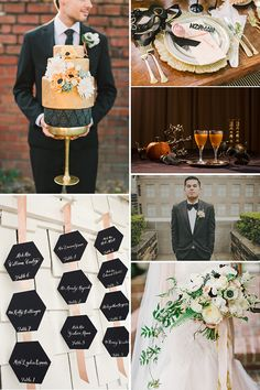 Black and Coral Wedding Color Palette