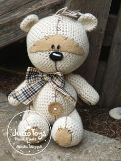 Teddy bear like a Fizzy Moon - Julio Toys | Crochet patterns | Amigurumi