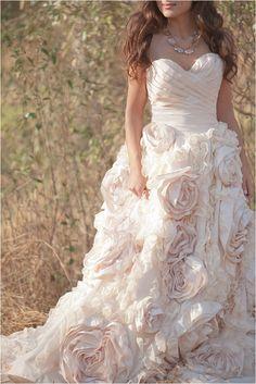 Sareh Nouri Gown with ruffles #blush