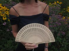 Personalized wooden hand fans Bridesmaids gifts by ItsAllGoodWood, $18.00
