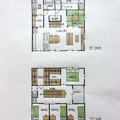 『40坪の間取り』 ・ トイレ・洗面脱衣室がリビングや玄関と程よい距離を確保した間取り。 和室はリビングと一体化。 2階の階段横廊下には本棚、通路幅50センチ。 ・ #間取り#間取り図 #間取り集 #間取り相談 #間取り図好き #間取り考え中 #マイホーム計画#マイホーム計画開始 #マイホーム計画三重 #三重の家 #三重の住宅 #三重の間取り #三重の建築家 #三重の設計事務所 #設計相談#40坪の間取り#和室のある間取り #パントリーのある間取り