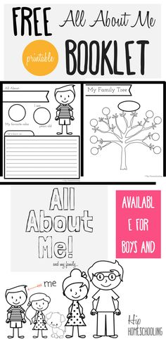 All About Me Worksheet: A Printable Book for Elementary Kids All About Me Worksheet for Kids- Free printable all about me booklet for homeschool kids grades Perfect for Social Studies and Language Arts! All About Me Booklet, All About Me Printable, All About Me Worksheet, All About Me Preschool, All About Me Activities, Preschool Activities, Cutting Activities, Kindergarten Class, Preschool Learning