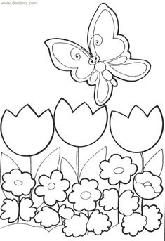 Spring Coloring Pages: Spring coloring sheets can actually help your kid learn more about the spring season. Here are top 25 spring coloring pages free Spring Coloring Pages, Easter Coloring Pages, Flower Coloring Pages, Coloring Book Pages, Coloring Pages For Kids, Coloring Sheets, Drawing For Kids, Art For Kids, Butterfly Coloring Page