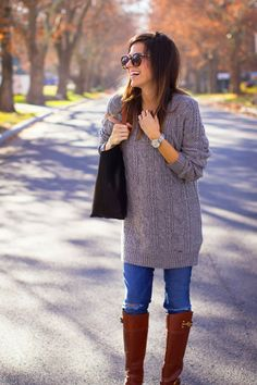 knit dress as sweater  by #Hello Fashion
