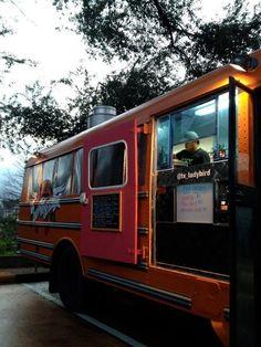 Fine Art and Food Trucks; Museum of Fine Art, Houston, Texas  --Food trucks outside museum.