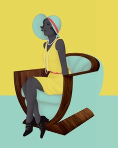 <p>The graphic illustrations of Jack Hughes are refreshing and unique amidst many of the artists struggling to imitate fashion's greatest illustrators. In his use of two tone color and realisti