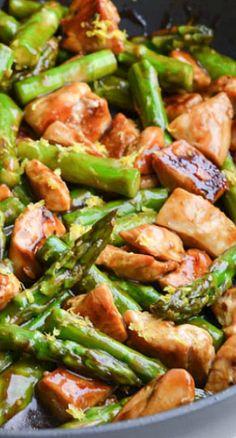 Lemony Chicken Stir Fry with Asparagus...was ok....I added too much lemon juice