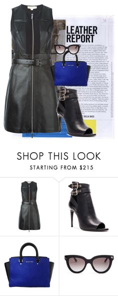 """""""Leather Luxe"""" by brandonandrews500 ❤ liked on Polyvore featuring MICHAEL Michael Kors, Burberry and Valentino"""