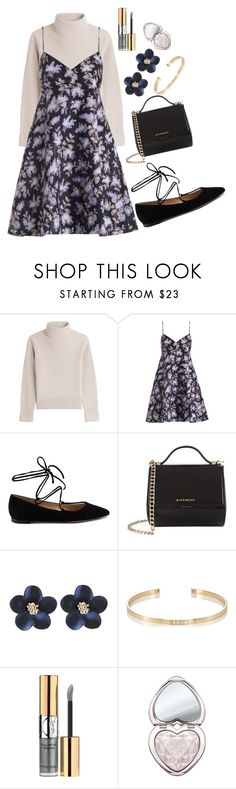 """""""Brunch"""" by devonkathleenallen ❤ liked on Polyvore featuring Vanessa Seward, Zimmermann, Gianvito Rossi, Givenchy, Ileana Makri, Yves Saint Laurent, Too Faced Cosmetics, grey and brunchgoals"""