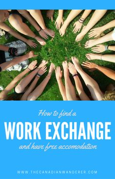 How to Find a Work Exchange for Free Food and Accommodation! Websites that can help you find a volunteer position to do for free. Live Abroad | Work Abroad | Travel | Free Accommodation | Teaching | Hostels | Hotels | Volunteer Abroad