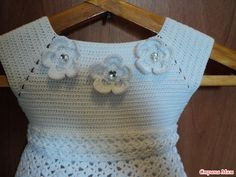 crochet white dress for little angle - crafts ideas - crafts for kids