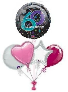 """Mark the special day with wonderful """"A Time To Party birthday balloon delivery or balloon bouquets. Fabulous helium filled birthday balloons by post delivered by free balloon delivery."""