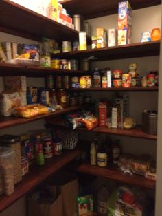 Interesting shelving config in rome pantry