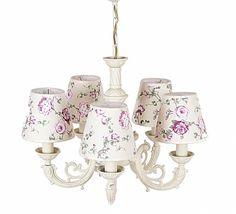 Lustra Elegance Flori Lilac - cu 5 Becuri