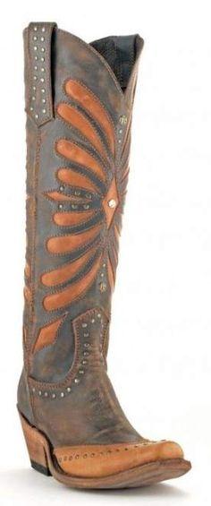 Cuadra Damen Western Cowboystiefel (Rindleder) 1Z23SS