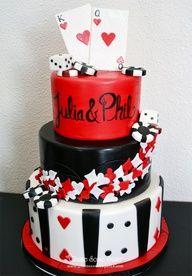 Las Vegas Themed Cake.