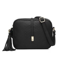 Realer Small Shoulder Bags PU Leather Side Purse Cross Body for Women Black New #Realer #Black