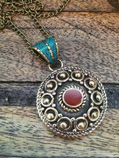 Tibetan Mandala Pendant  #tibetan #treasures #bohemian #style