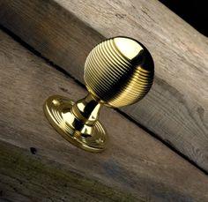 Classic polished brass door knob from Samuel Heath. Cabinet Knobs, Door Knobs, Door Handles, Birmingham Uk, Knobs And Pulls, Polished Brass, Modern Interior, Architecture Design, Hardware
