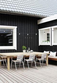 Inspiration for black home exteriors.